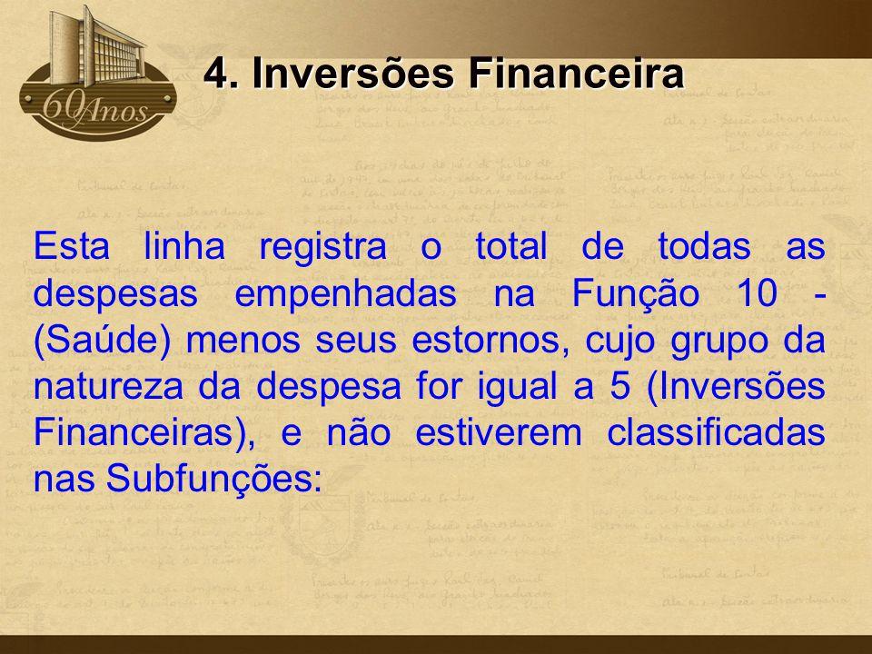 4. Inversões Financeira