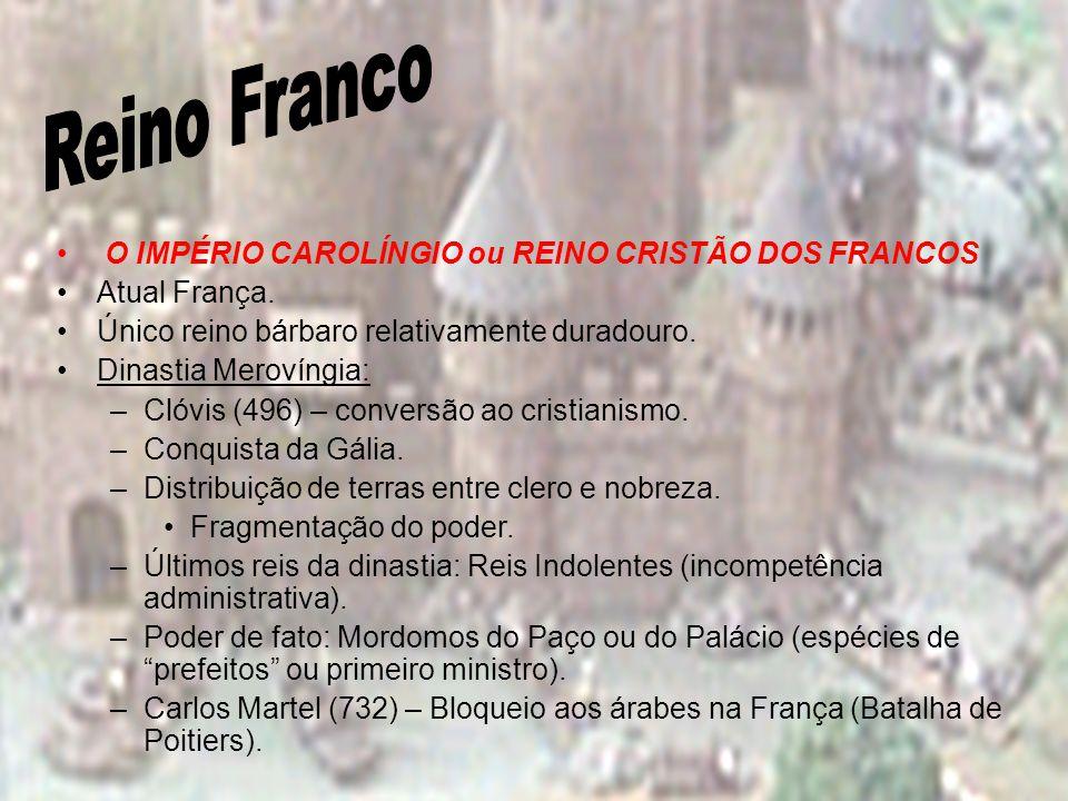 Reino Franco O IMPÉRIO CAROLÍNGIO ou REINO CRISTÃO DOS FRANCOS