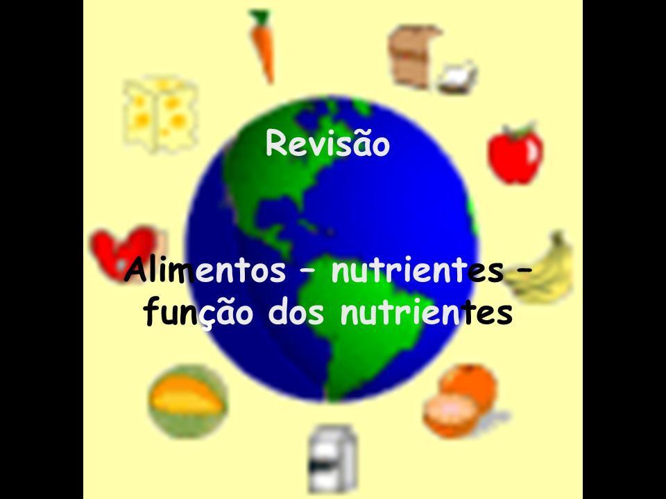 Alimentos – nutrientes – função dos nutrientes