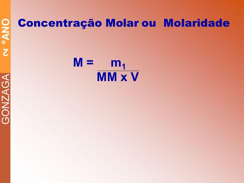 Concentração Molar ou Molaridade