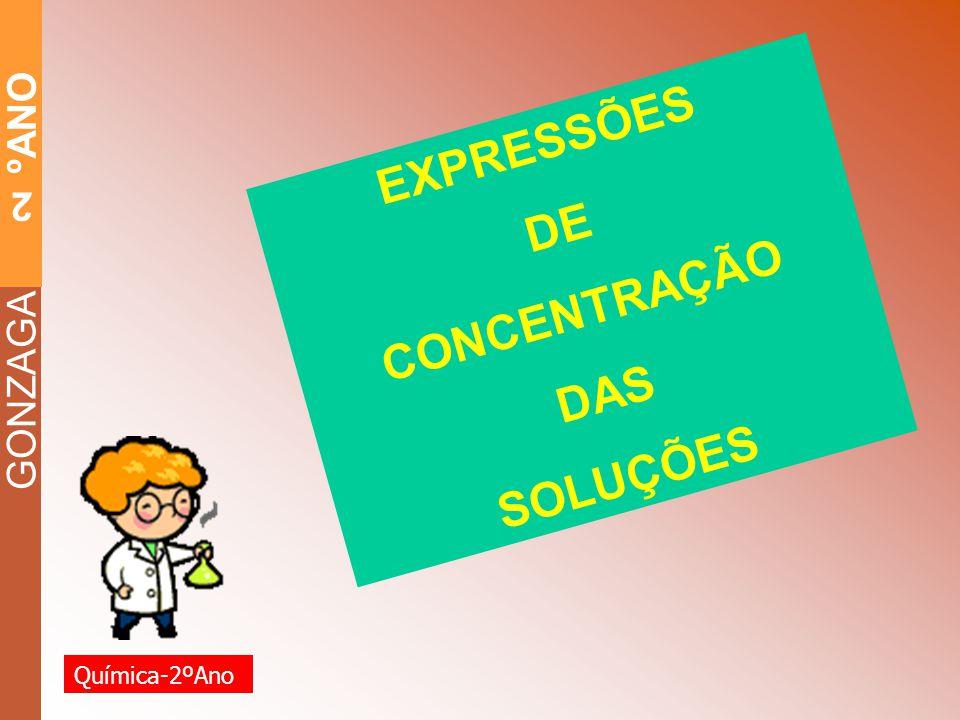 EXPRESSÕES DE CONCENTRAÇÃO DAS SOLUÇÕES