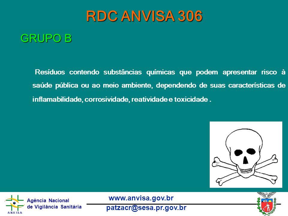 RDC ANVISA 306 GRUPO B.
