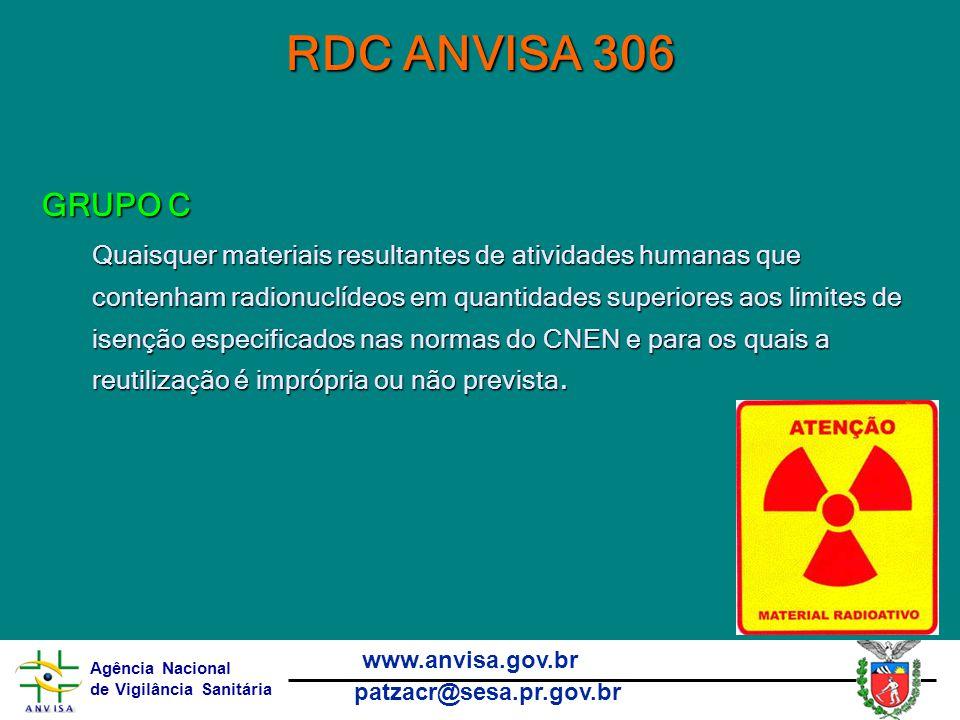 RDC ANVISA 306 GRUPO C.