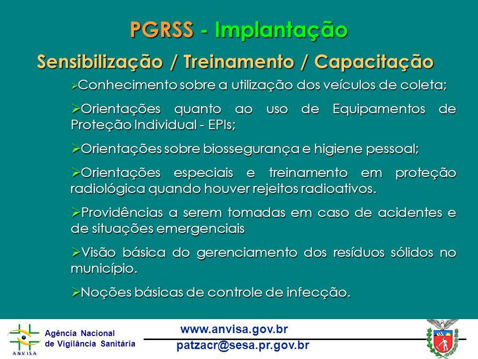 PGRSS - Implantação Sensibilização / Treinamento / Capacitação