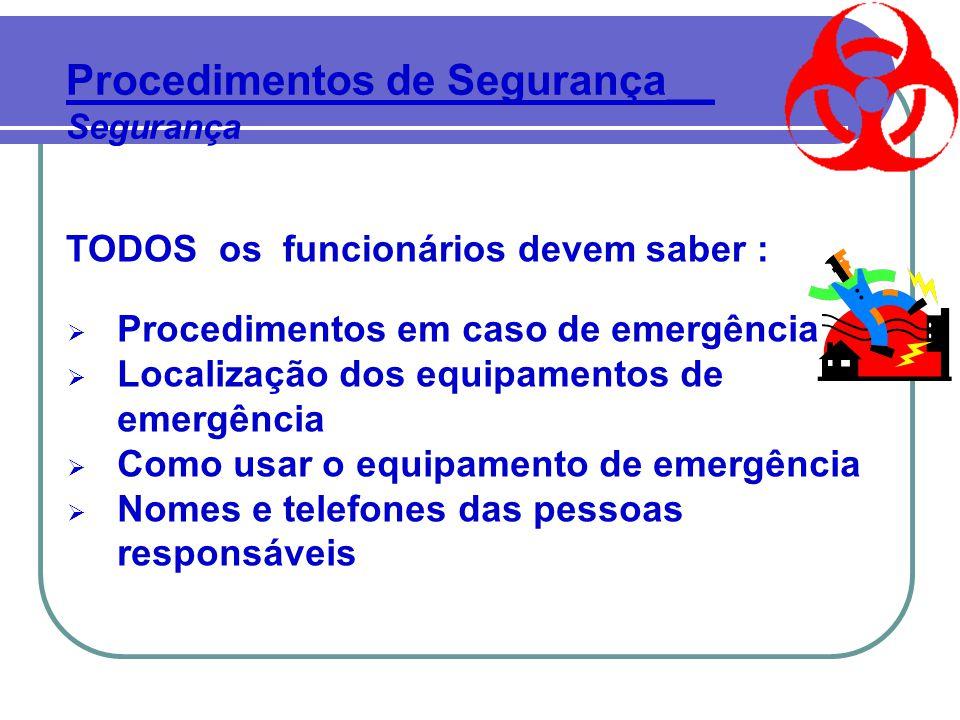 Procedimentos de Segurança__