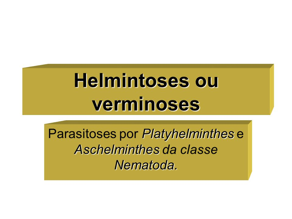 Helmintoses ou verminoses