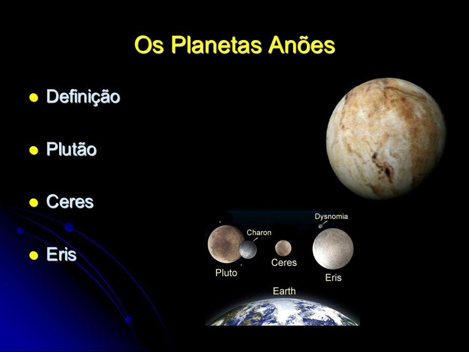 Os Planetas Anões Definição Plutão Ceres Eris