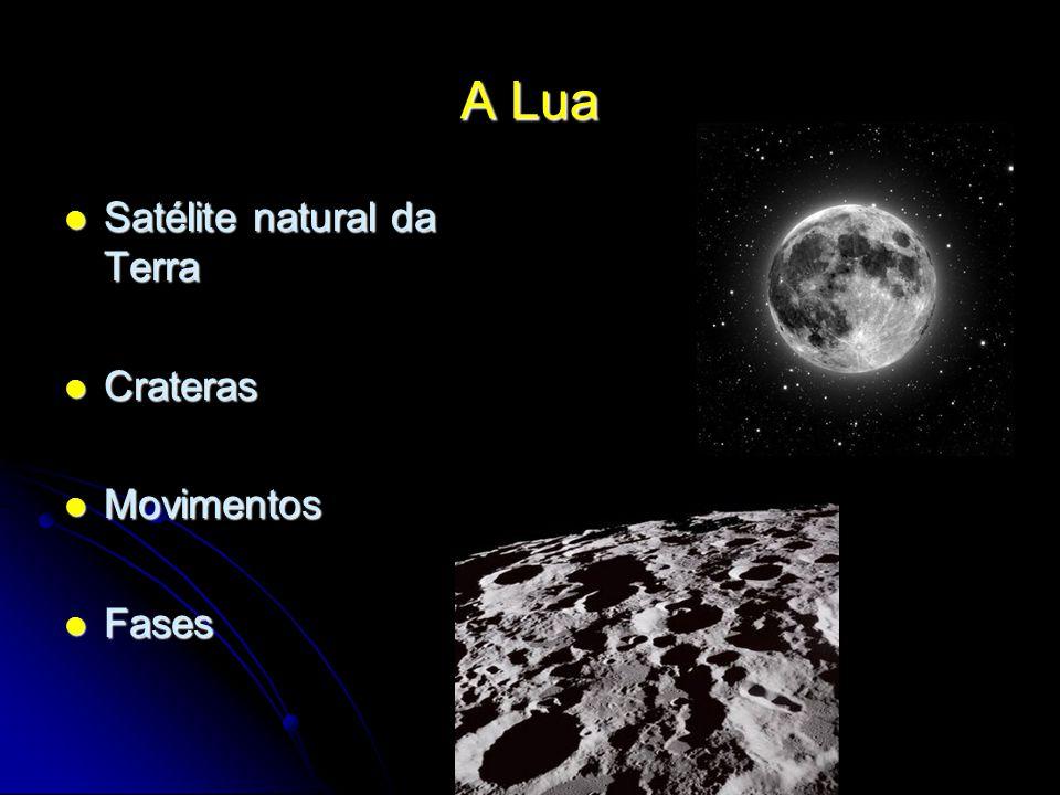 A Lua Satélite natural da Terra Crateras Movimentos Fases