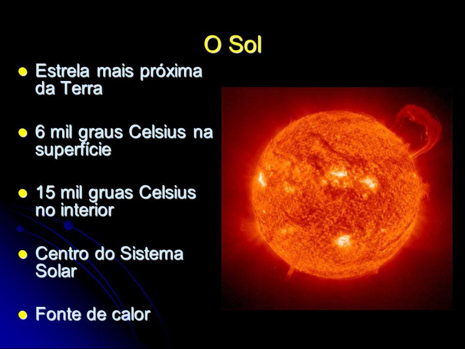 O Sol Estrela mais próxima da Terra 6 mil graus Celsius na superfície
