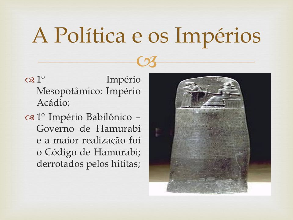 A Política e os Impérios