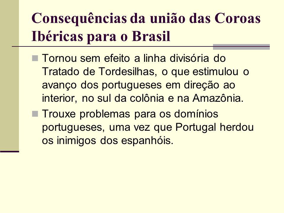 Consequências da união das Coroas Ibéricas para o Brasil