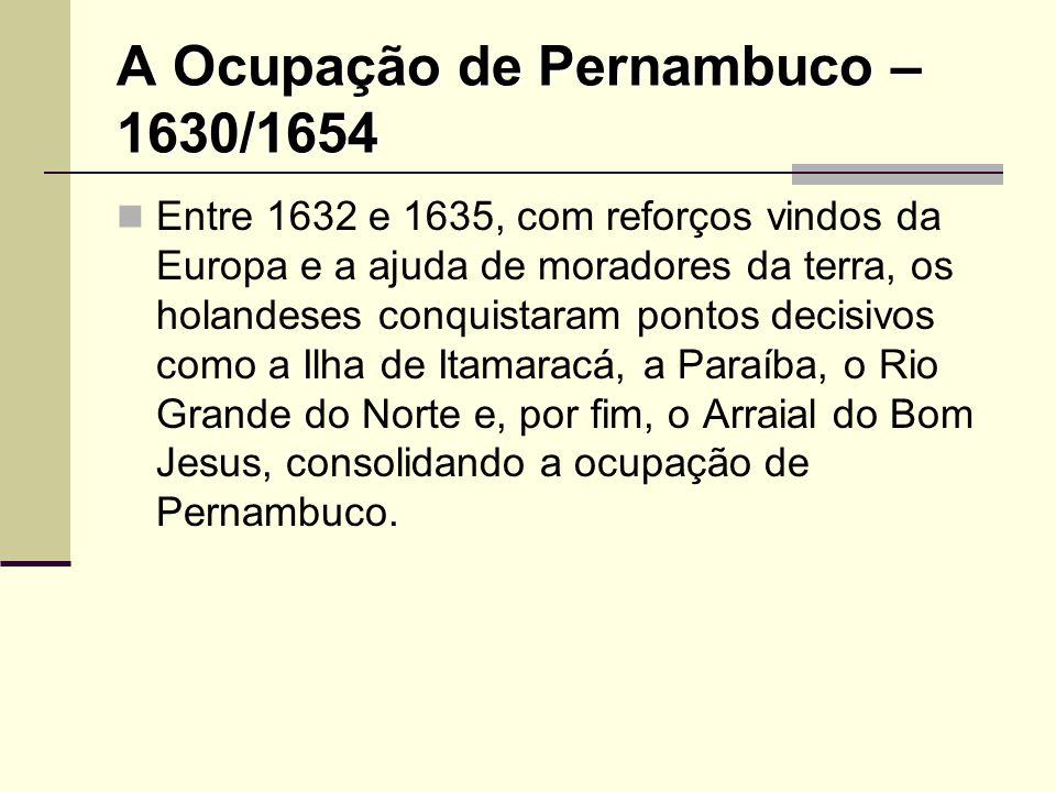 A Ocupação de Pernambuco – 1630/1654