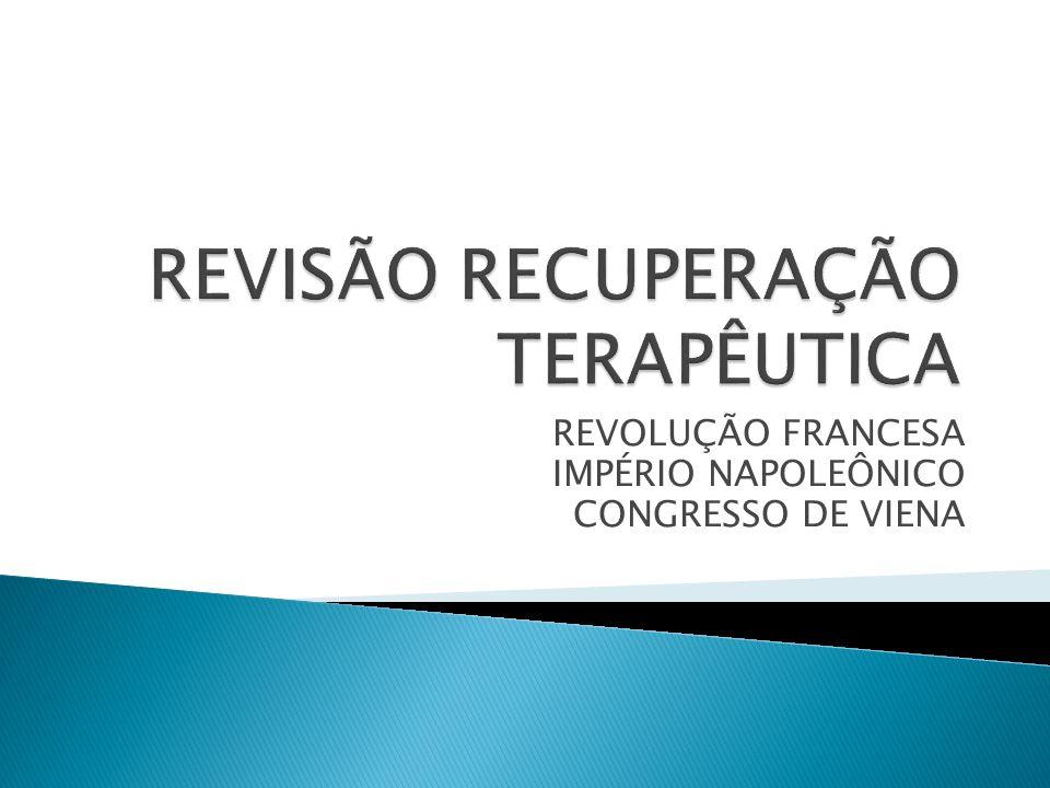 REVISÃO RECUPERAÇÃO TERAPÊUTICA