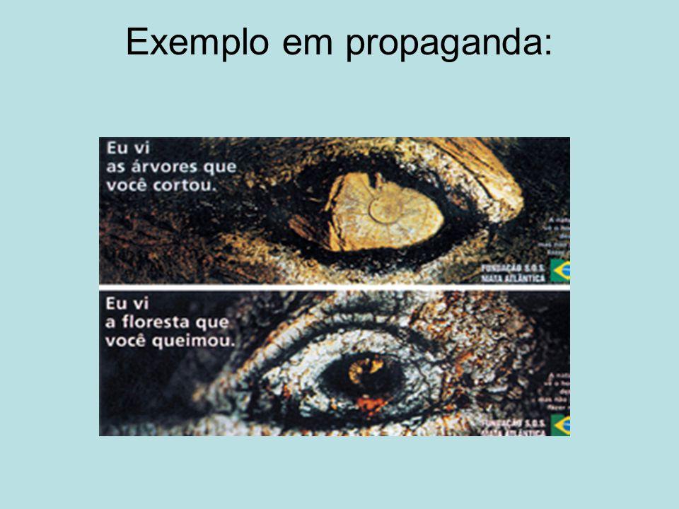 Exemplo em propaganda:
