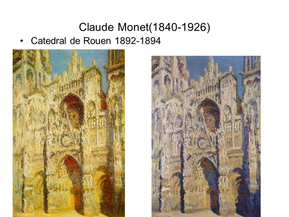 Claude Monet(1840-1926) Catedral de Rouen 1892-1894