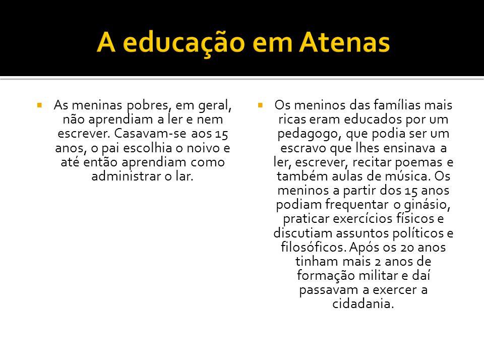 A educação em Atenas