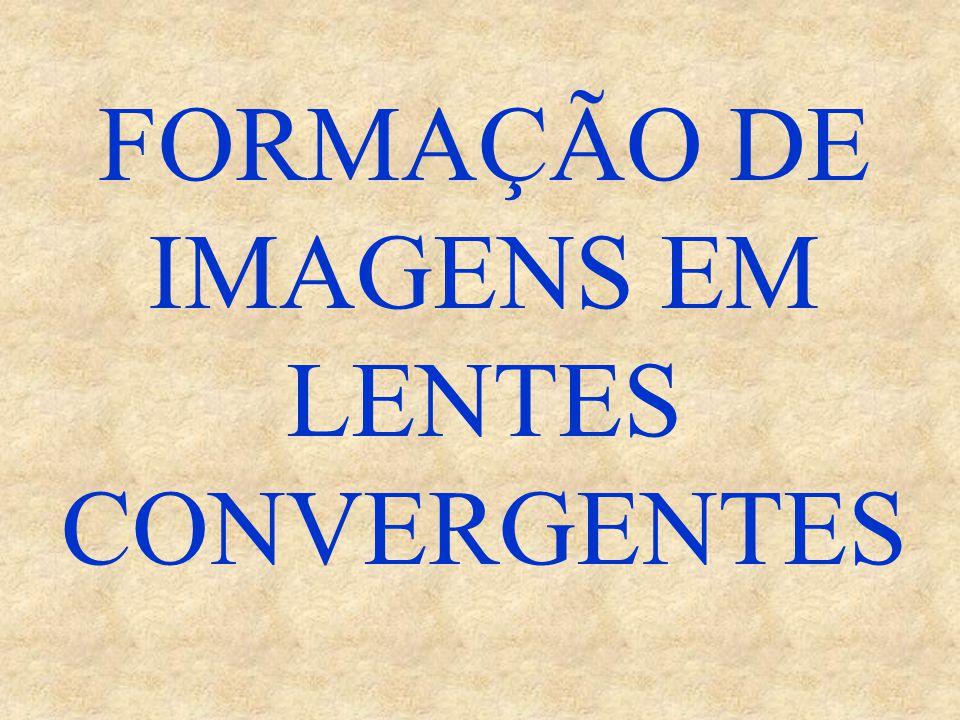 FORMAÇÃO DE IMAGENS EM LENTES CONVERGENTES
