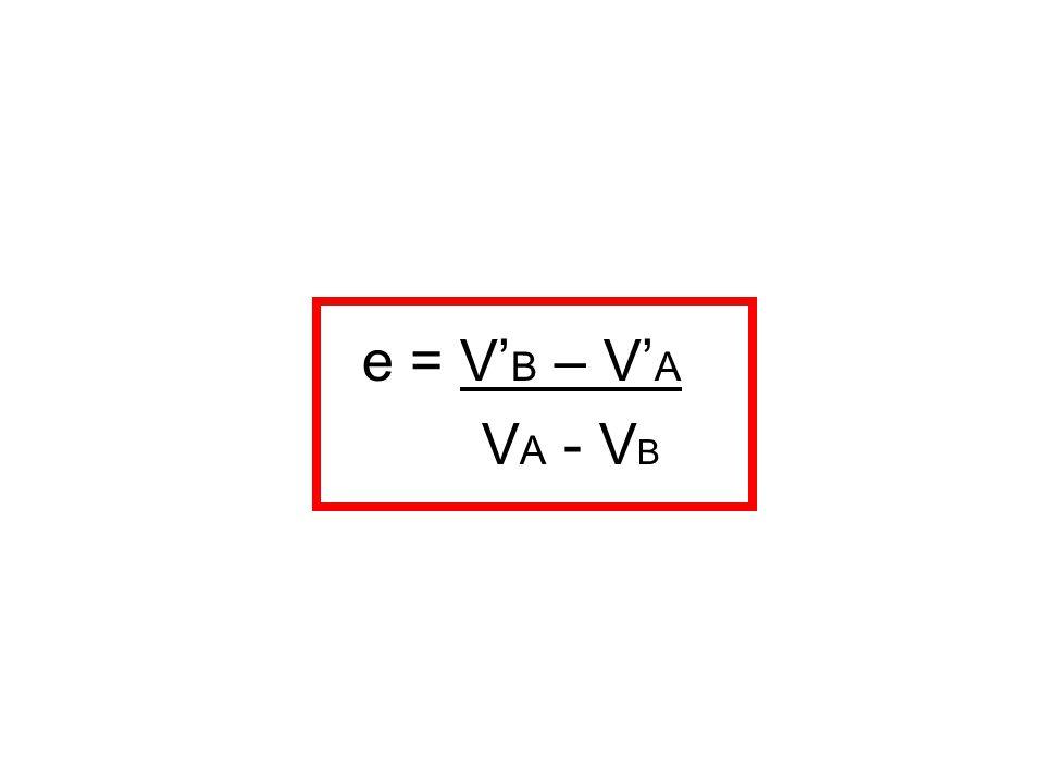 e = V'B – V'A VA - VB