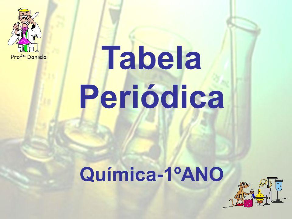 Profª Daniela Tabela Periódica Química-1ºANO