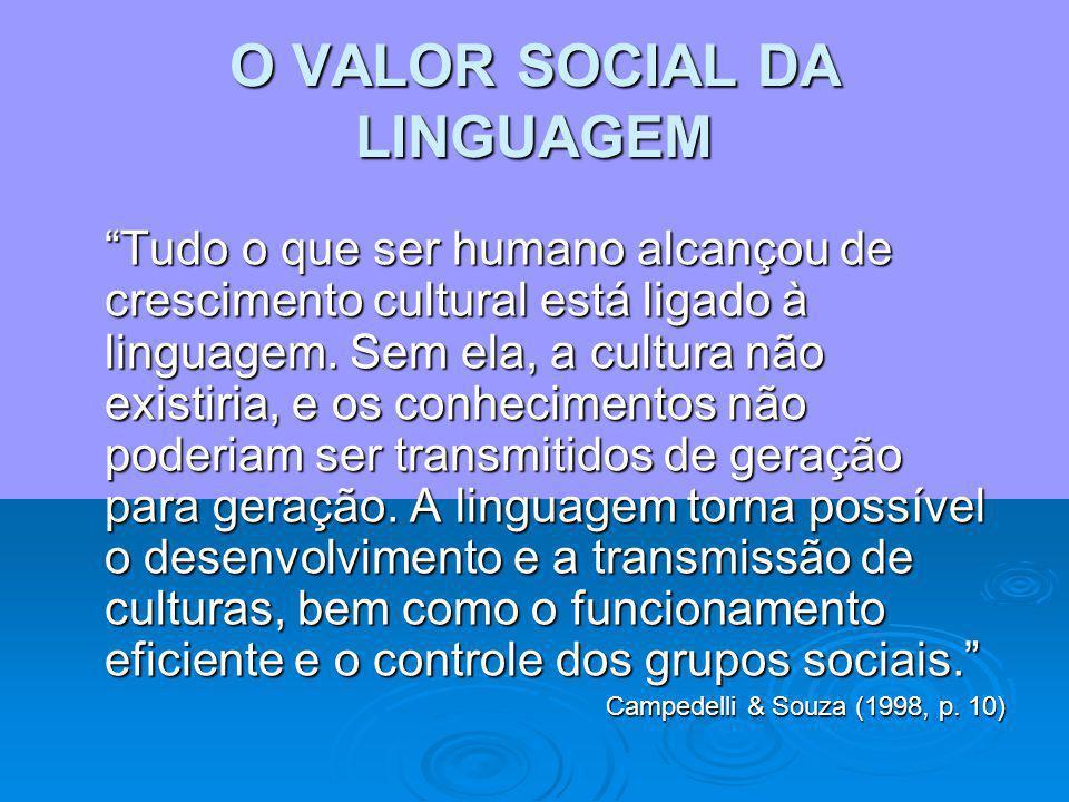 O VALOR SOCIAL DA LINGUAGEM