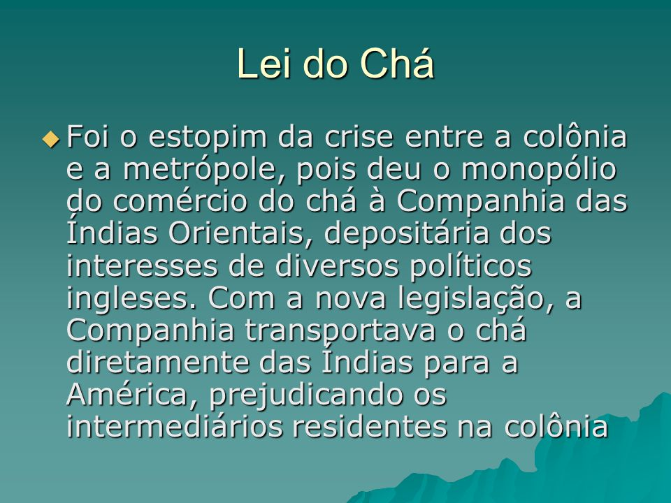 Lei do Chá