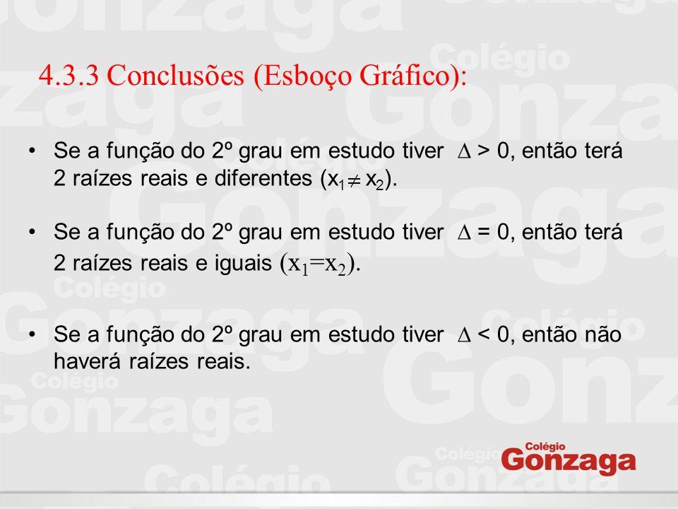 4.3.3 Conclusões (Esboço Gráfico):