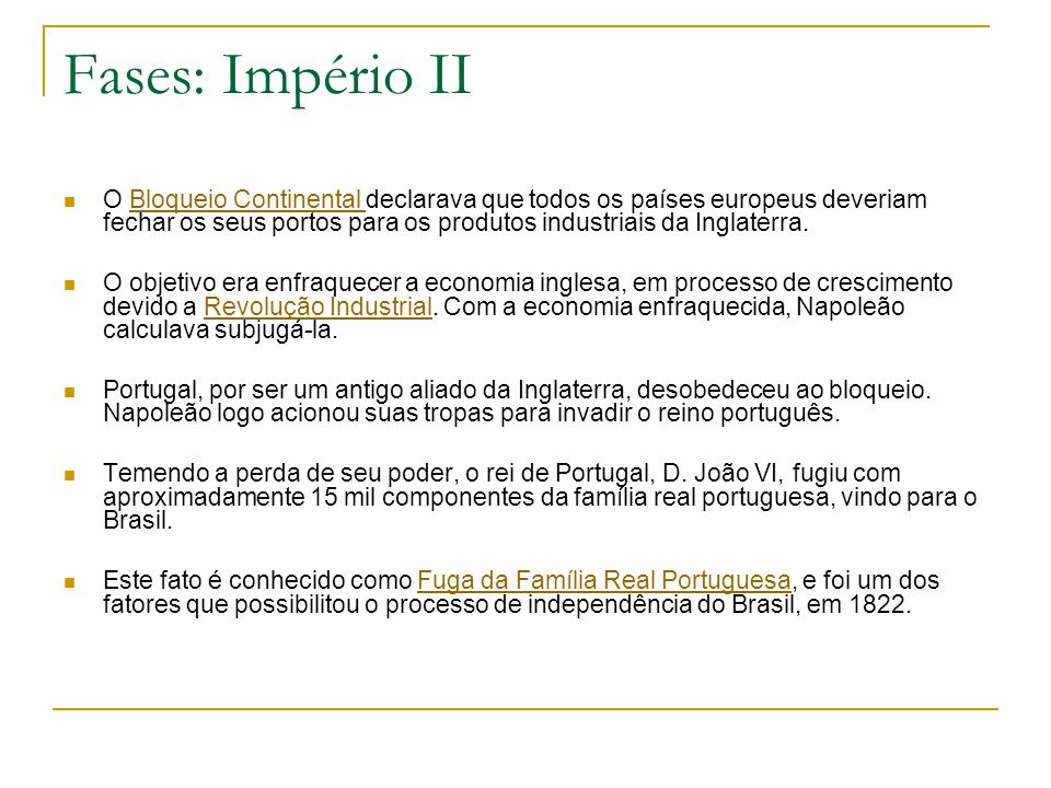 Fases: Império II
