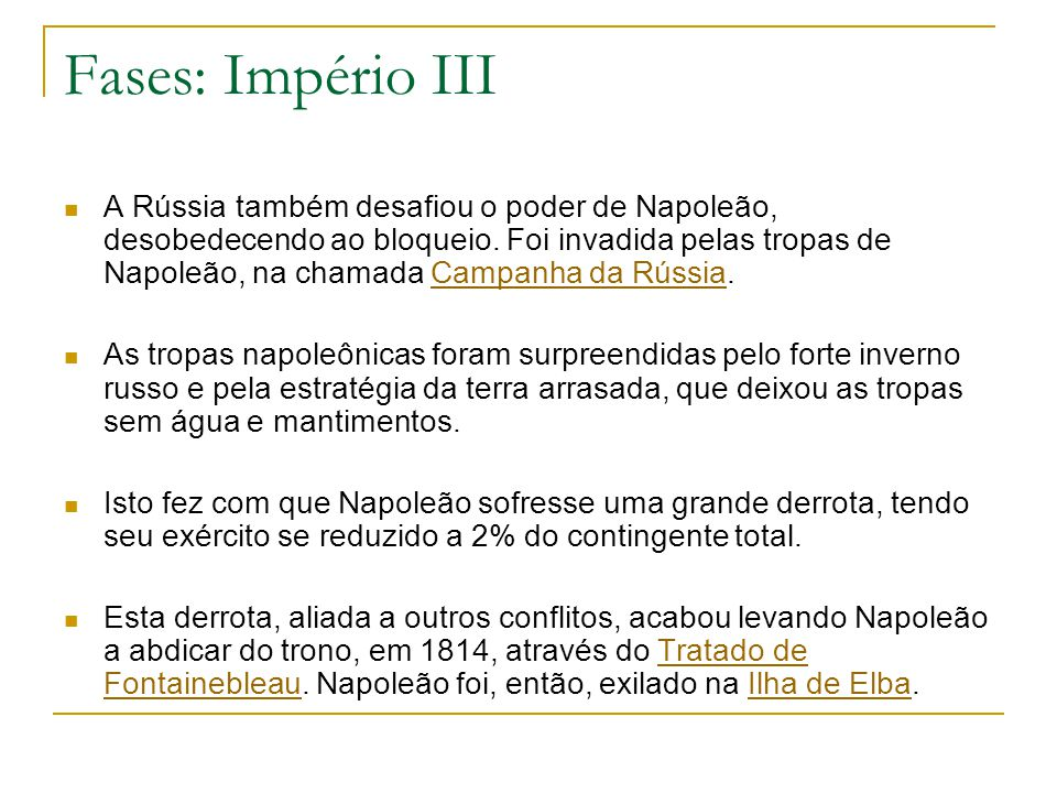 Fases: Império III