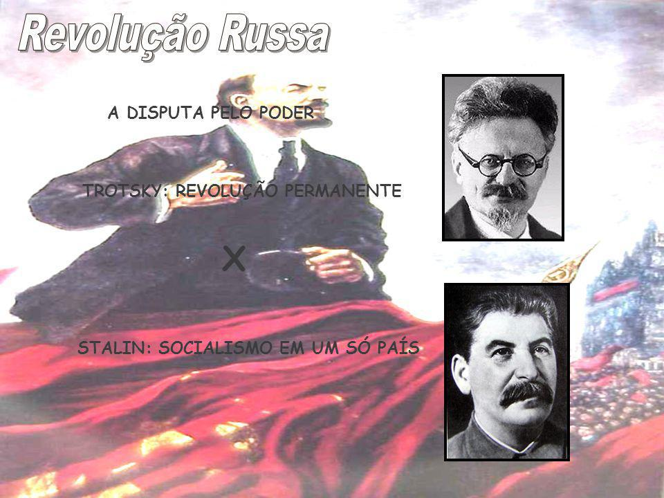 Revolução Russa X A DISPUTA PELO PODER TROTSKY: REVOLUÇÃO PERMANENTE