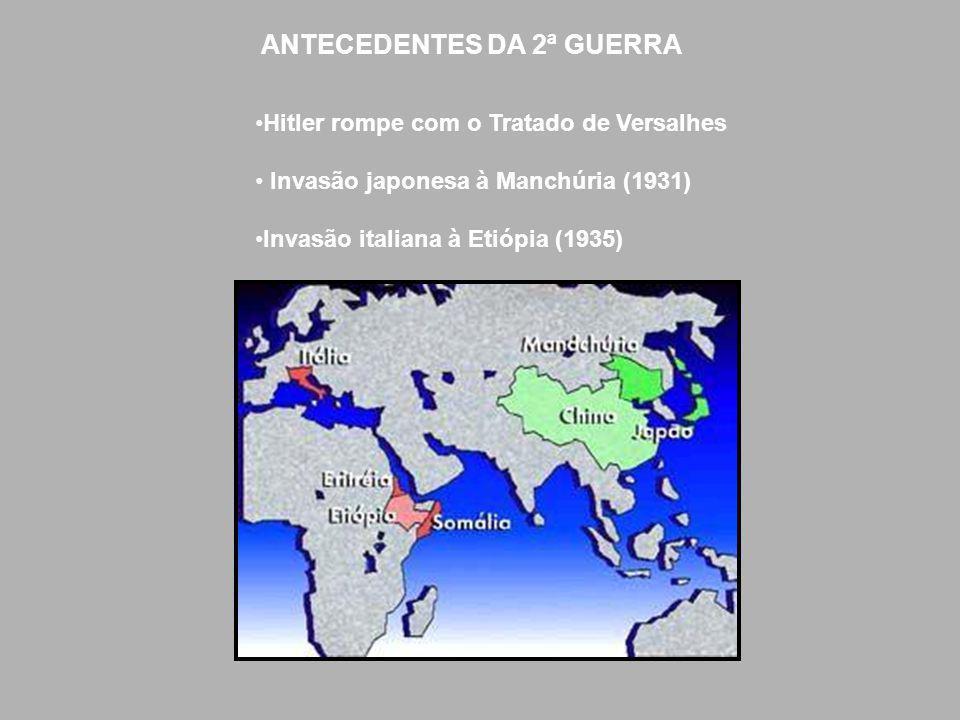ANTECEDENTES DA 2ª GUERRA