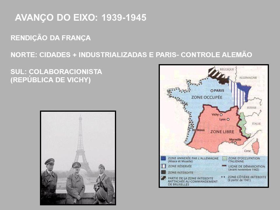 AVANÇO DO EIXO: 1939-1945 RENDIÇÃO DA FRANÇA