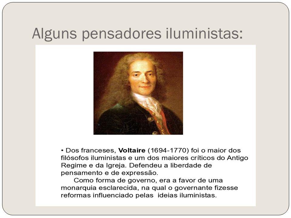 Alguns pensadores iluministas:
