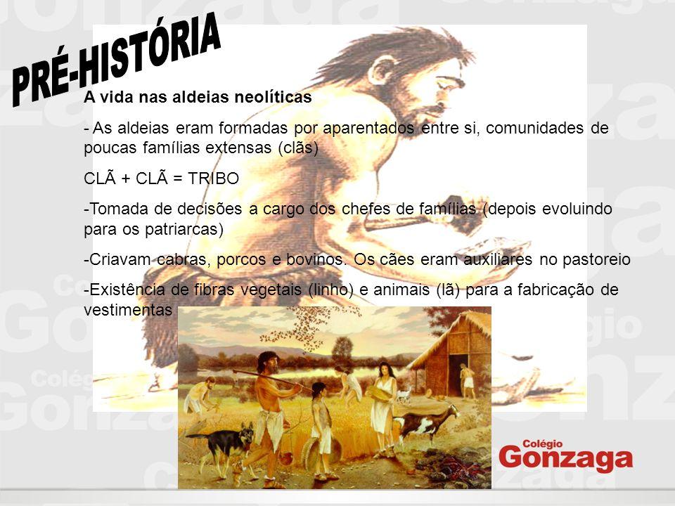 PRÉ-HISTÓRIA A vida nas aldeias neolíticas