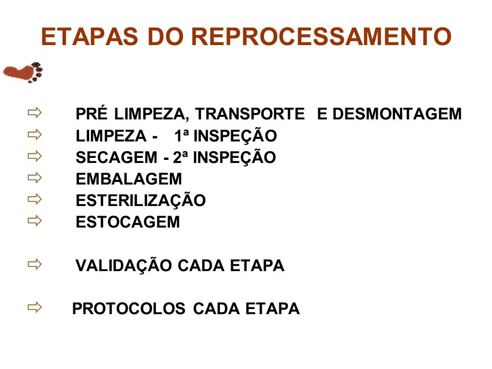 ETAPAS DO REPROCESSAMENTO