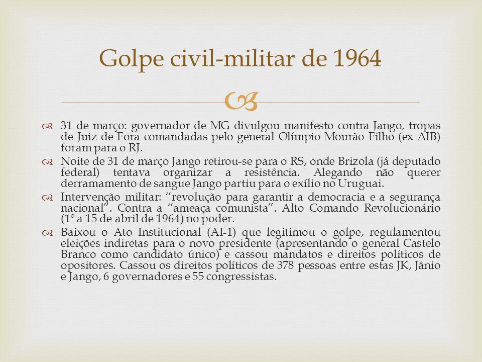 Golpe civil-militar de 1964