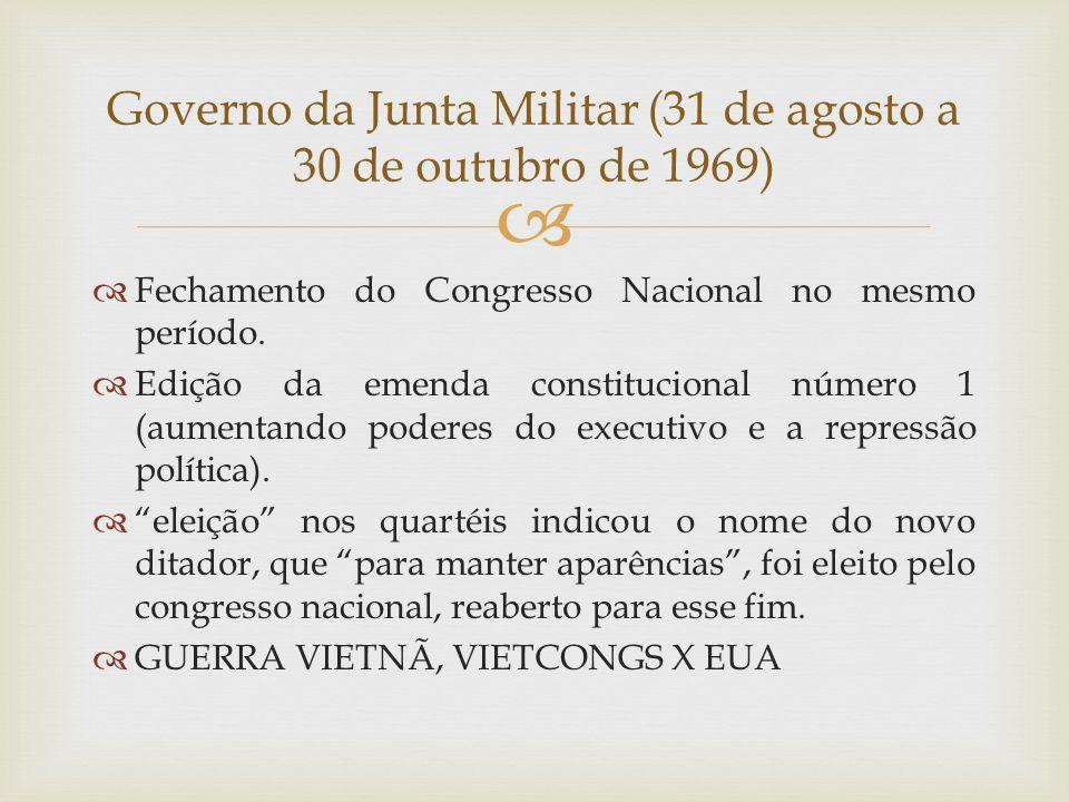 Governo da Junta Militar (31 de agosto a 30 de outubro de 1969)
