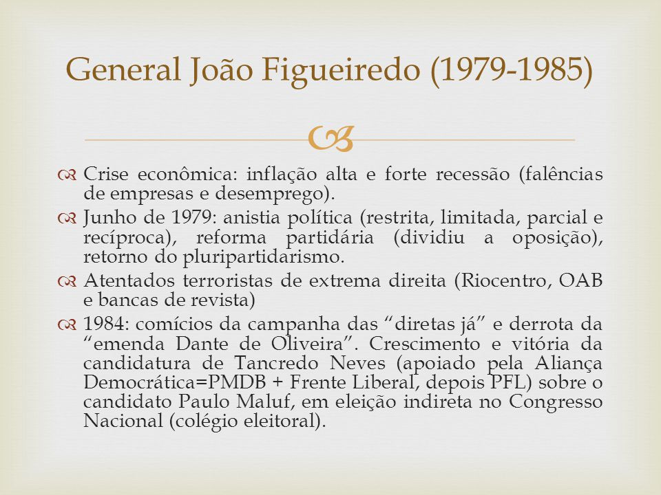 General João Figueiredo (1979-1985)