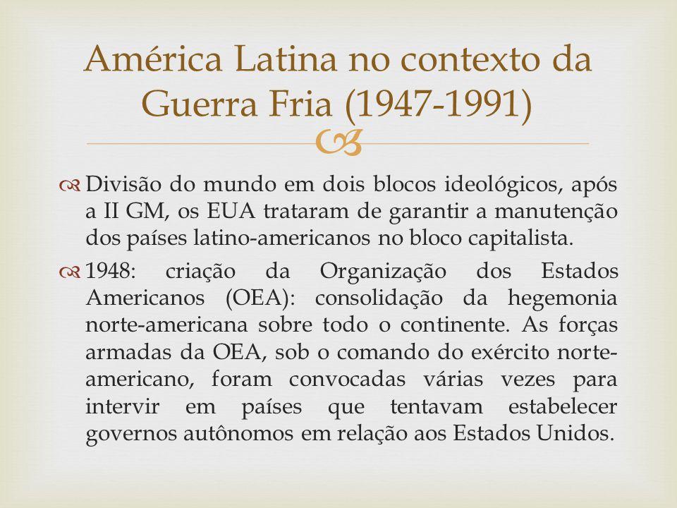 América Latina no contexto da Guerra Fria (1947-1991)