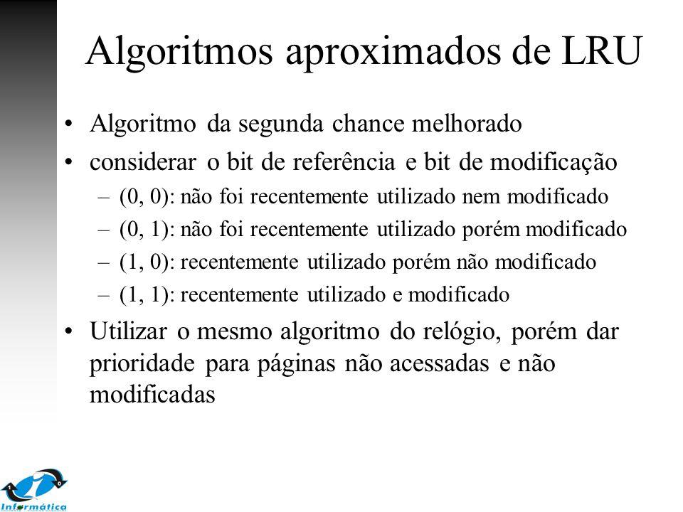 Algoritmos aproximados de LRU