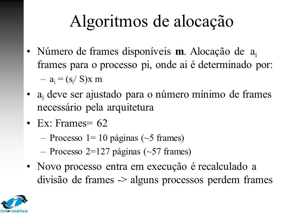 Algoritmos de alocação