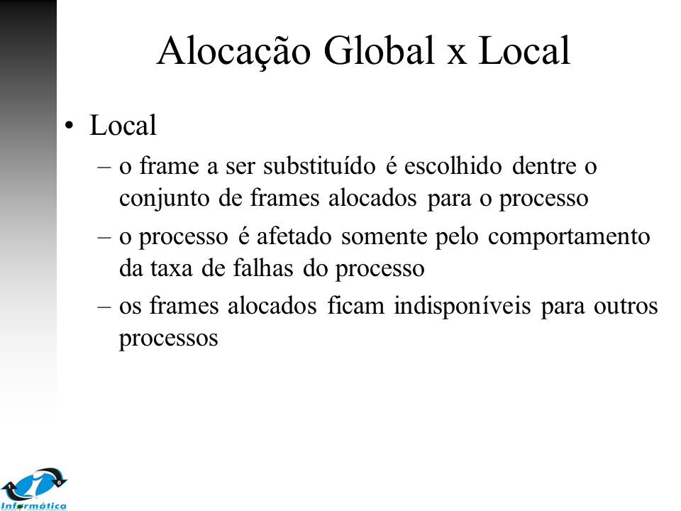 Alocação Global x Local