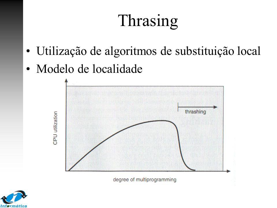 Thrasing Utilização de algoritmos de substituição local