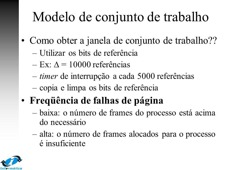 Modelo de conjunto de trabalho