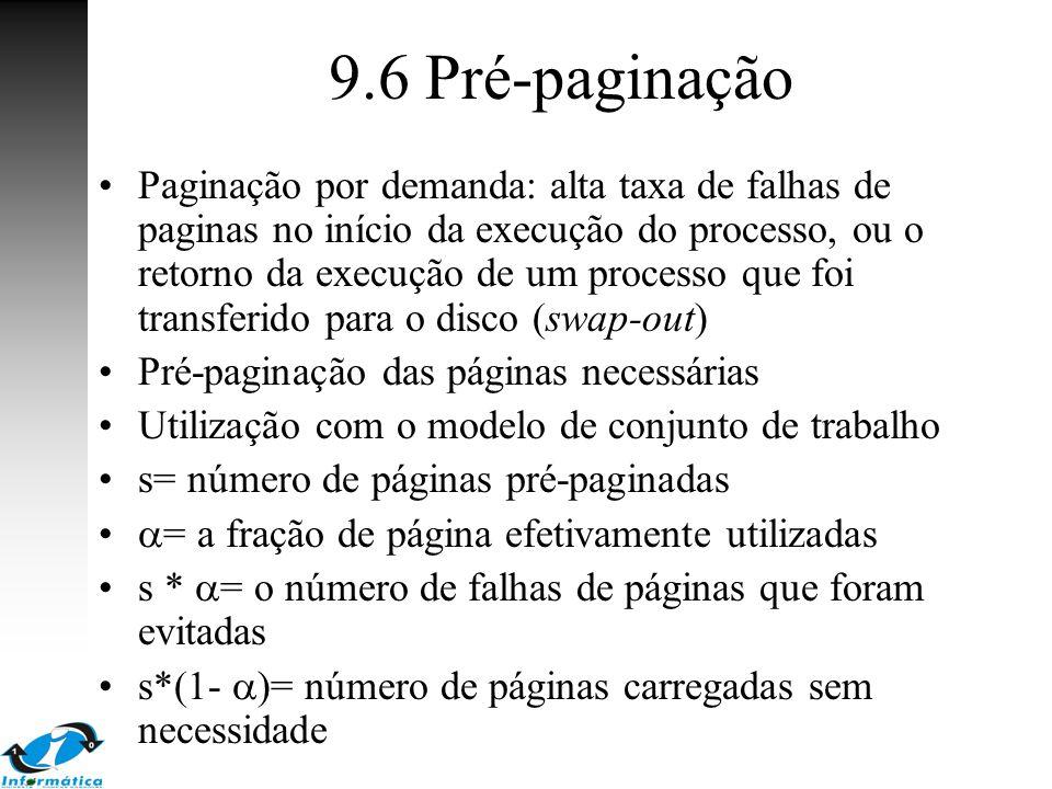 9.6 Pré-paginação