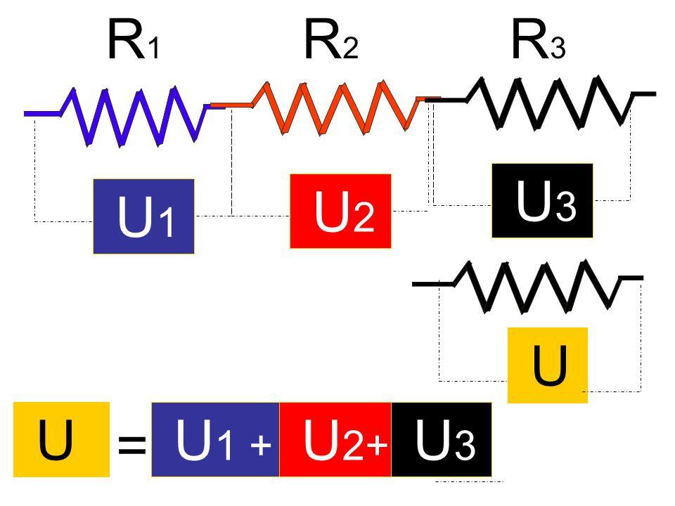 R1 R2 R3 U3 U2 U1 U U U1 + U2+ U3 =