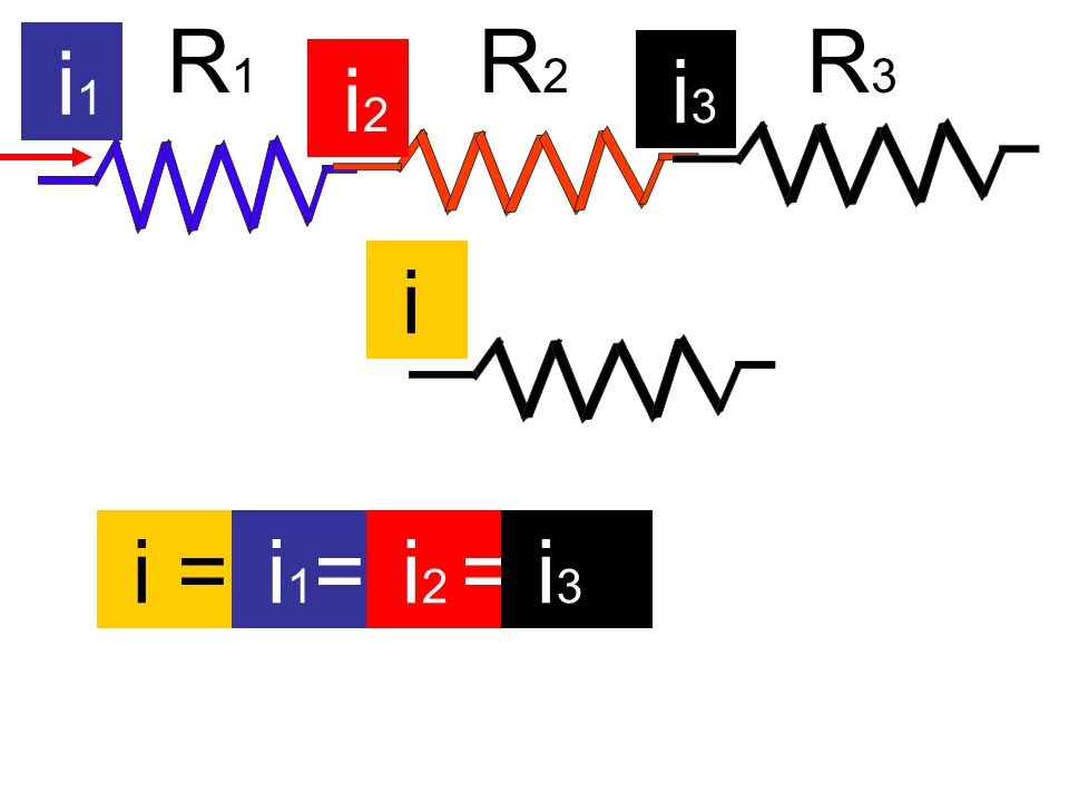 R1 R2 R3 i1 i3 i2 i i = i1= i2 = i3