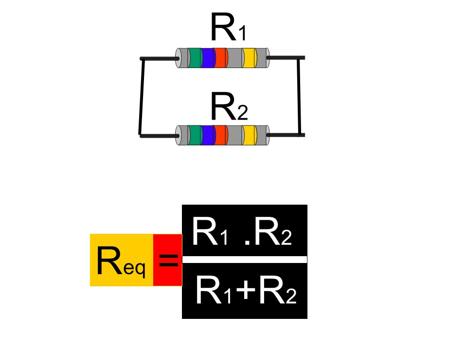R1 R2 R1 .R2 Req = R1 +R2