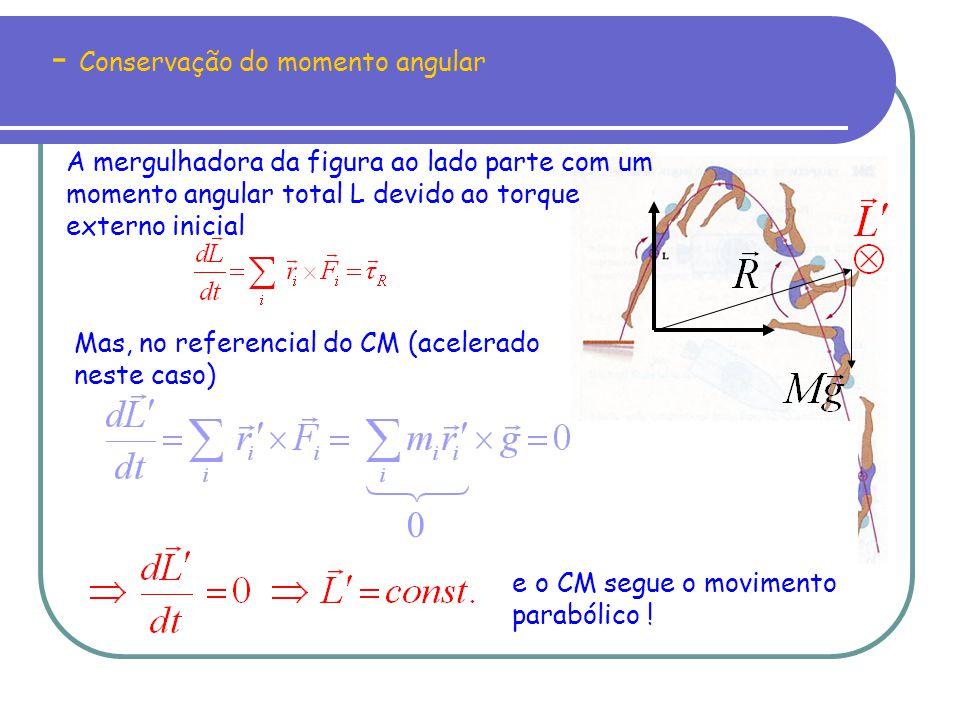 - Conservação do momento angular
