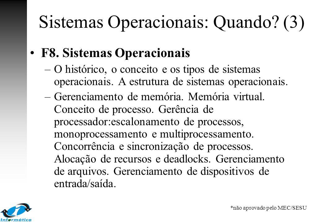 Sistemas Operacionais: Quando (3)