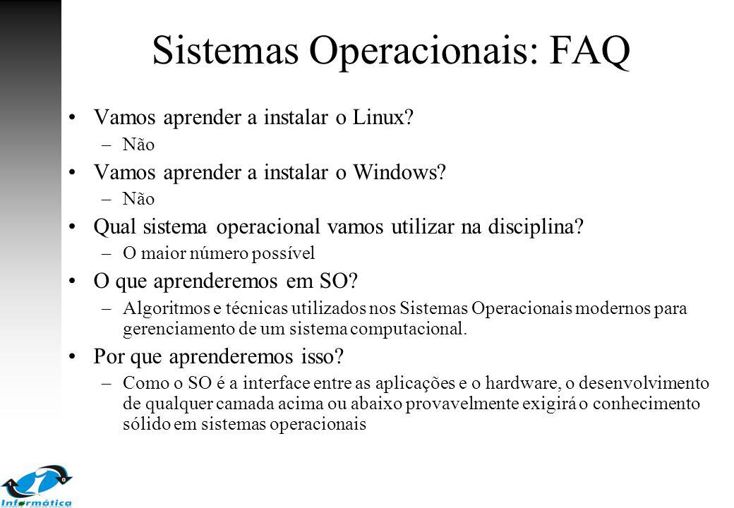 Sistemas Operacionais: FAQ